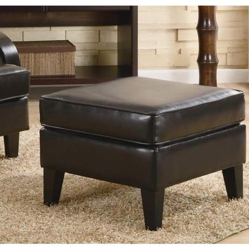 Roundhill Furniture Wonda Brown Bonded Leather Ottoman