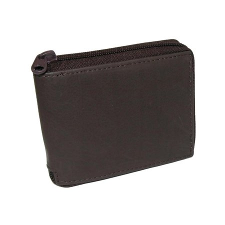 Size one size Men's Leather Zippered Bifold