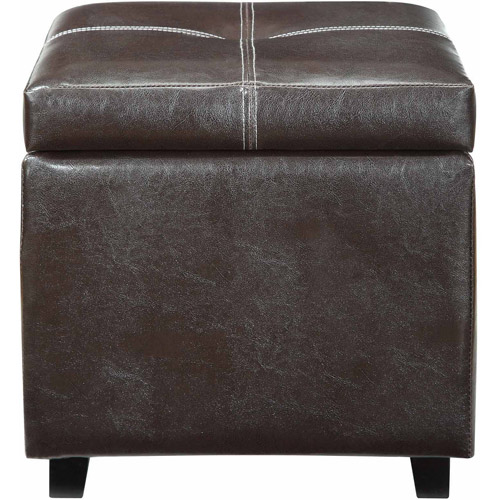 Modway Treasure Leatherette Storage Ottoman in Espresso