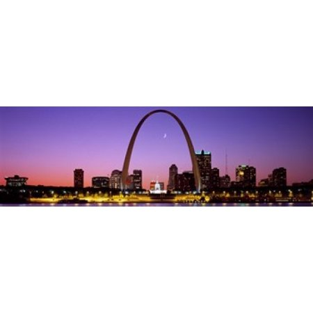 Skyline St Louis MO USA Poster Print (Costumes St Louis Mo)