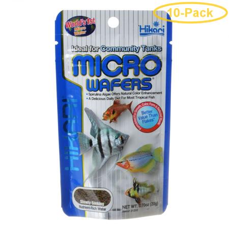 Hikari Micro Wafers for Small & Medium Size Tropical Fish .7 oz - Pack of (Hikari Micro Wafers)