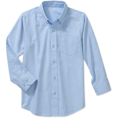 George Boys School Uniforms Long Sleeve Button Up Oxford Shirt