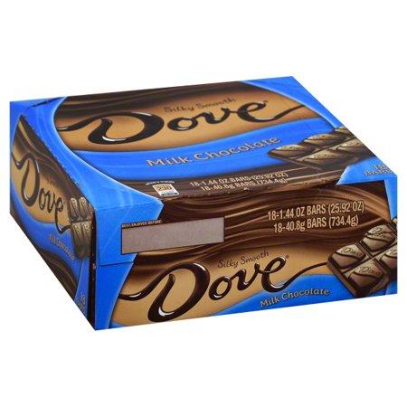 Dove Silky Smooth Bars Milk Chocolate, 1.44 OZ