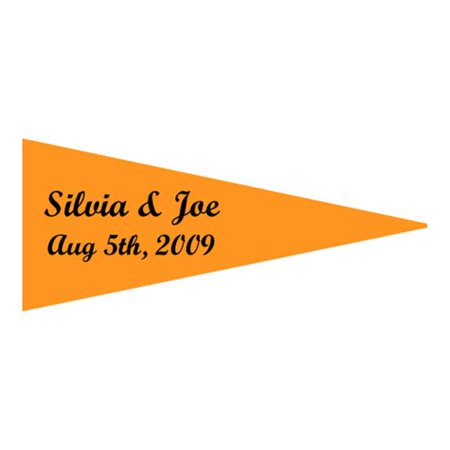 Pack Laser Stickers Flag Design - Weddingstar 8606-31 Boat Flag Stickers- Fuschia- pack of 36