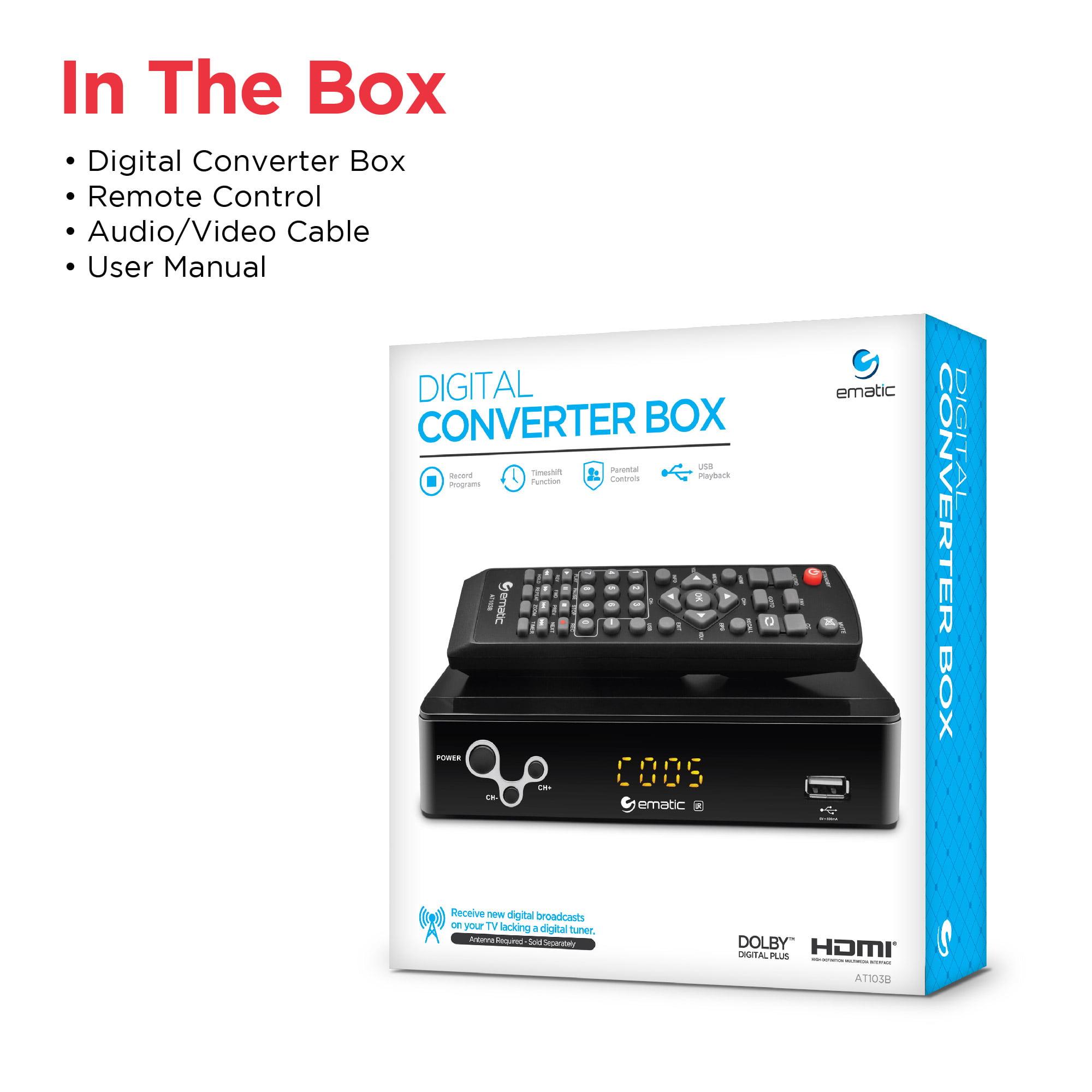 Ematic At103b Digital Converter Box
