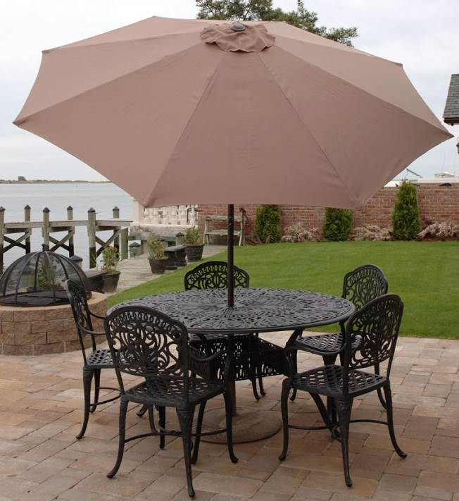 9 ft. Aluminum Market Umbrella w Tilt (Cocoa Brown)