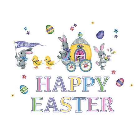 Garage Door Magnet Set Decoration - Happy Easter Bunny & Chick Parade