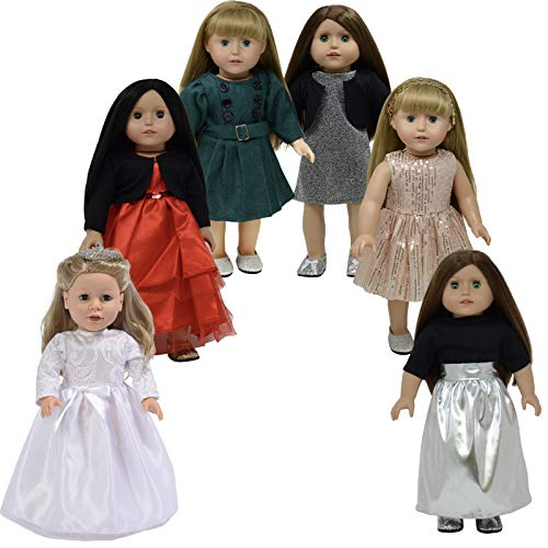 D233-R The New York Doll Collection 18 Inch// 46 cm Doll Robe and Red Towel Fits Dolls Doll Bathrobe and Tie Belt with Towel Red Doll Bathrobe