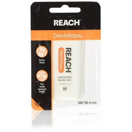 5319 Wax Ribbon - Reach DentoTAPE Waxed Ribbon Dental Floss, 100-Yard Dispensers (Pack of 5)
