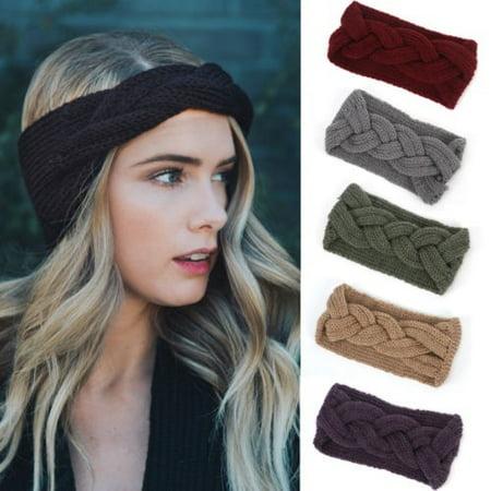 New Women Crochet Bow Turban Knitted Head Wrap Headband Winter Ear Hair Band (Best Crochet Hair Brand)