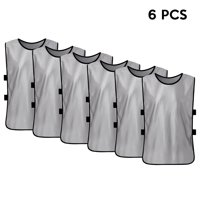 6 PCS Kid's Soccer Pinnies Quick Drying Football Jerseys Youth Sports Scrimmage Team Training Bibs Practice Sports Vest