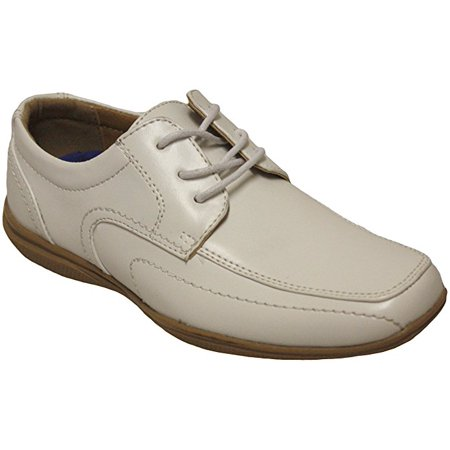 Joseph Dann 2363601 Boys White Lace Up Mocc Toe Communion Dress Shoes