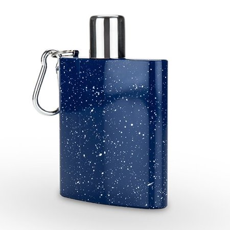 Flasks, Blue Enamel Carabiner Novelty Unique Vintage Alcohol Flask](Novelty Flasks)