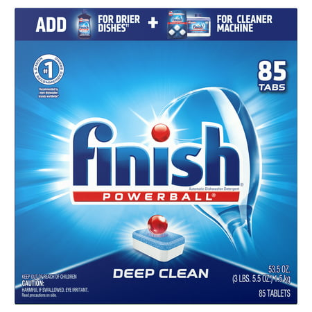Finish All in 1 Powerball Fresh, 85ct, Dishwasher Detergent Tablets (Dishwasher Tabs Natural)