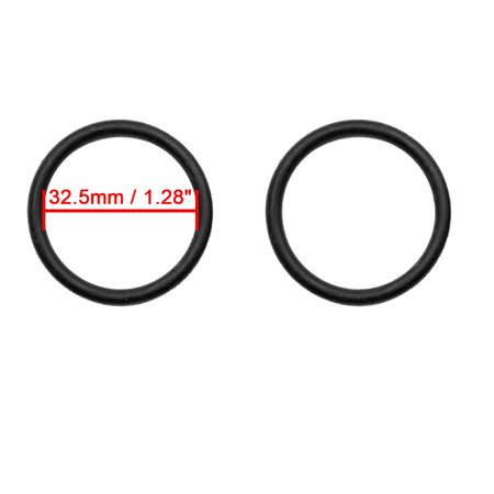 50pcs Black Universal Nitrile Rubber O-Ring Seals Gasket for Car 32.5 x 3.55mm - image 1 of 2