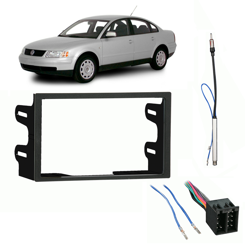 Fits Volkswagen Passat 00-01 Double DIN Stereo Harness Ra...