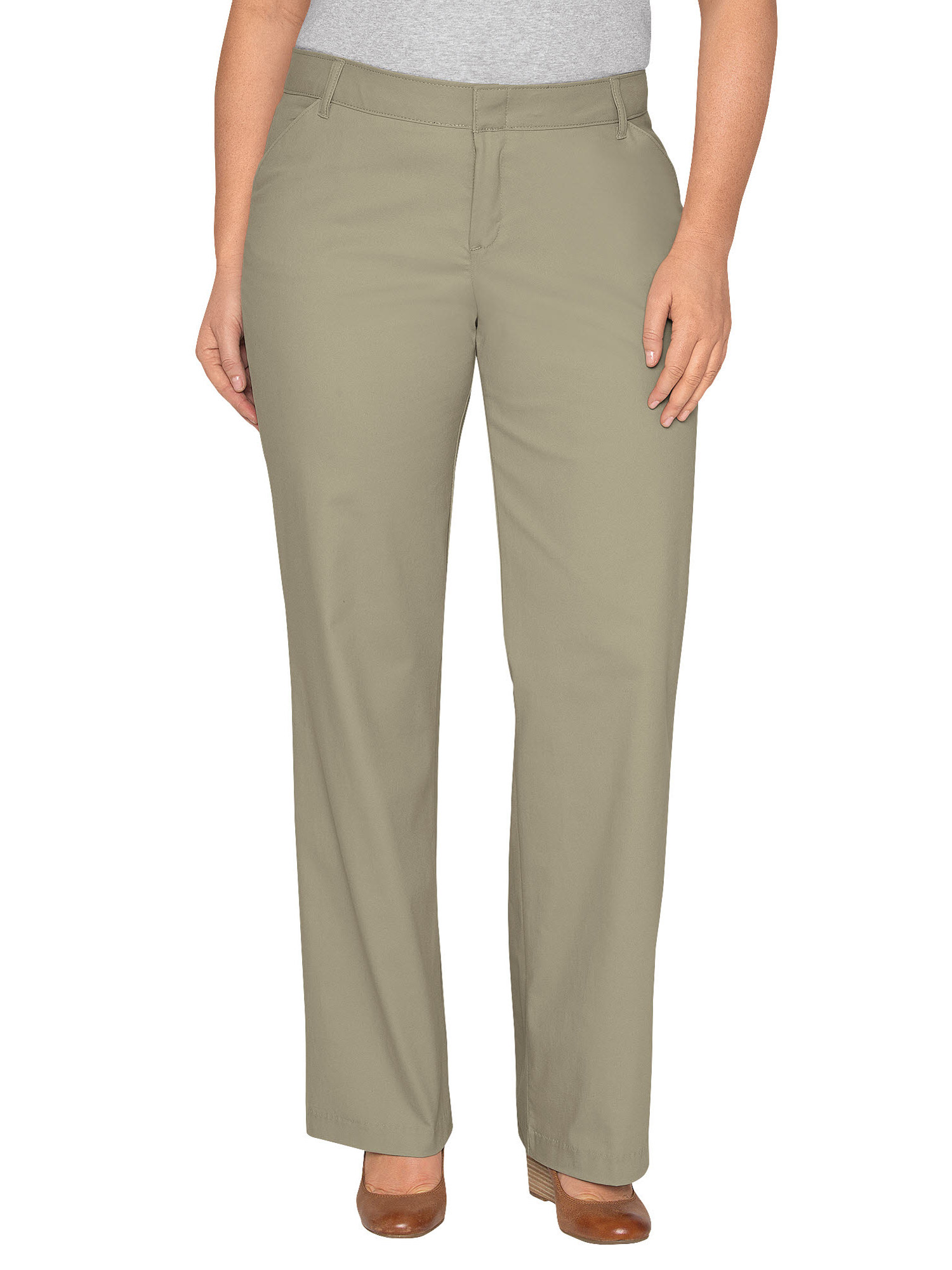 Women's Plus Size Relaxed Straight Stretch Twill Pant