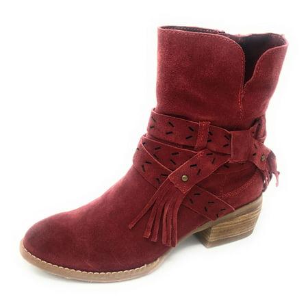 Naughty Monkey - Naughty Monkey Women s Wilson Red Suede Leather Boots -  Walmart.com daa2cfa24c1d
