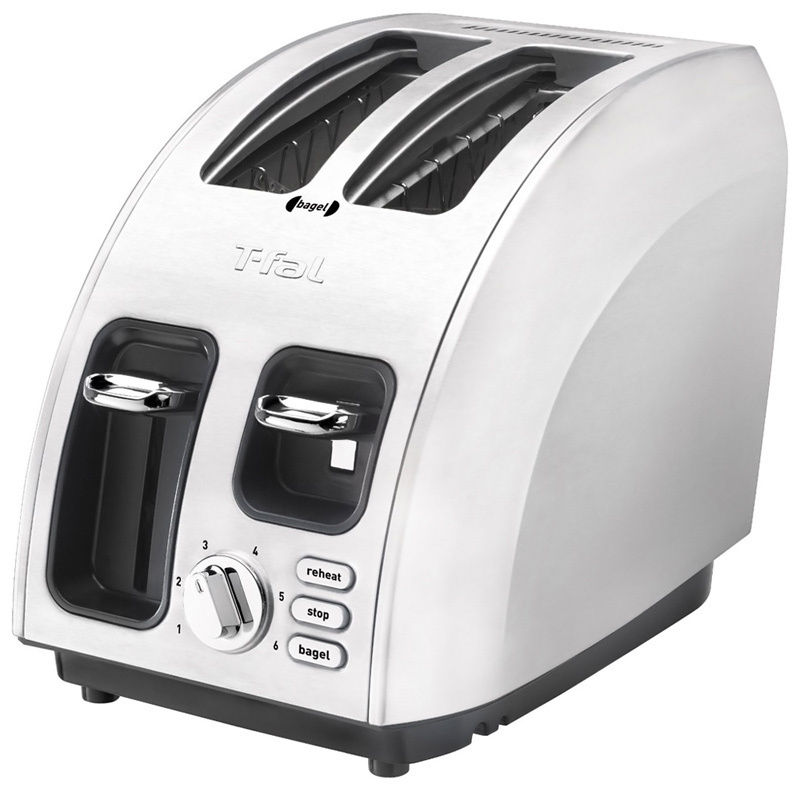 T-fal  Avante Brushed Stainless Steel 2-slice Icon Cookin...