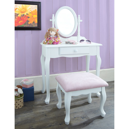 Powell Furniture 3-Piece Vanity Set, White