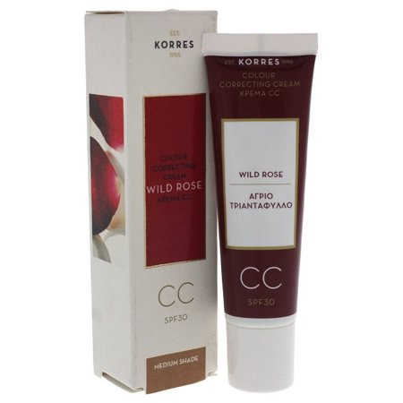 Best Korres Wild Rose Cc Colour Correcting Cream Spf 30 - Medium Shade Cream For Women  1.01 oz deal