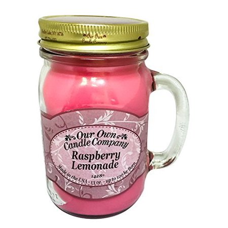 - Raspberry Lemonade Scented 13 Ounce Mason Jar Candle By Our Own Candle Company