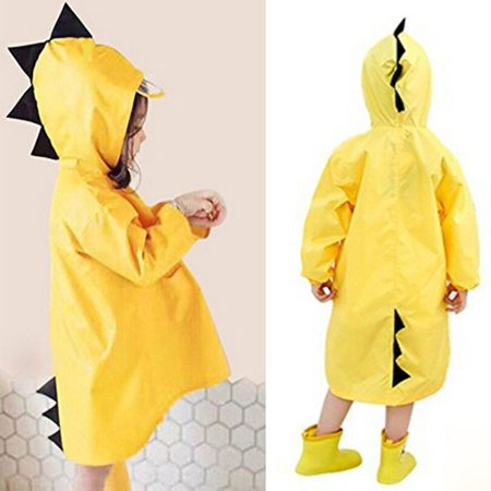 Cartoon Baby Kids Toddler Boy Girl Hooded Rain Coat Raincoat Jacket Rainwear (Cartoon Raincoat)