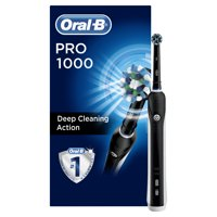 Oral-B 1000 Crossaction Electric Toothbrush, Rechargeable, Black