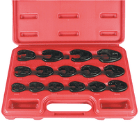 15 Piece Metric Flare Crowfoot Wrench Set 8MM-24MM