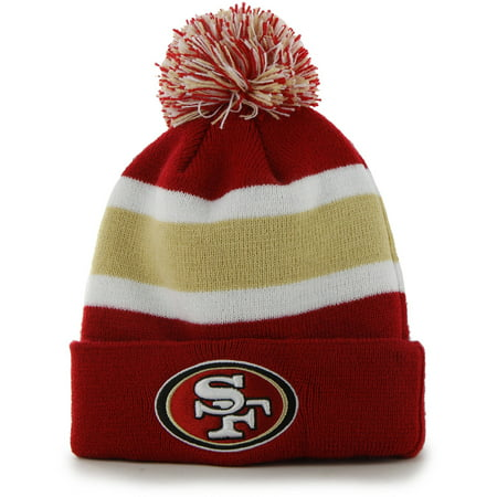 Fan Favorite - Breakaway Beanie with Pom, San Francisco (San Francisco 49ers Red Coaches)