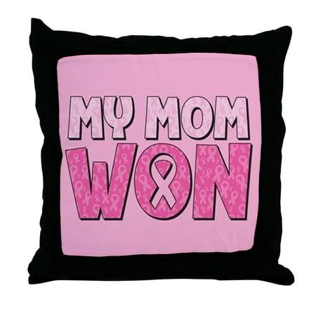 Breast Cancer Decor (CafePress - Breast Cancer Awareness - My Mom Won - Decor Throw Pillow)