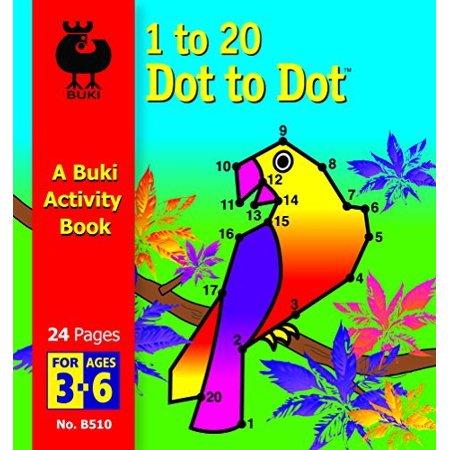 Buki 1-20 Dot to Dot Activity Book, Small (Halloween Dot To Dot Printables 1-20)