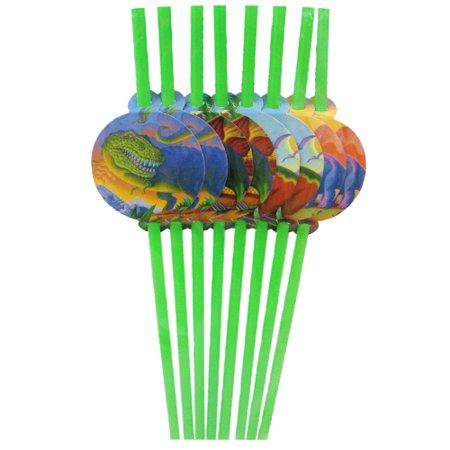 Dinosaur Decorated Straws / Favors (8ct)