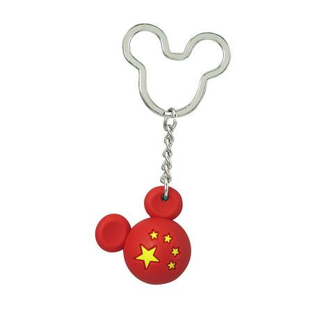Icon Ball Key Chain - Disney - Mickey Flag Key Ring - China New 85718 Disney Collection Mickey Icon