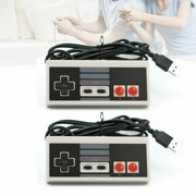 EEEkit 2Pcs USB Controller Console Gamepad Joypad for Nintendo Nes Snes Retro Classic