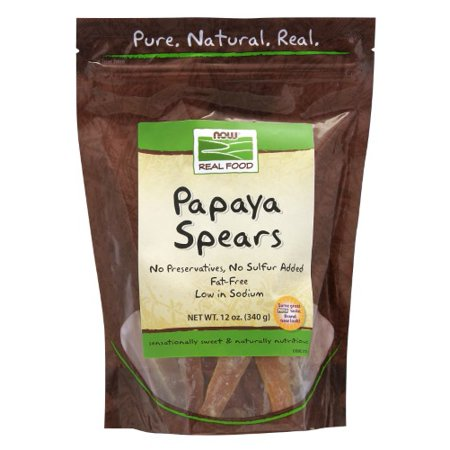 NOW Foods Real Food Papaya Spears 12 oz