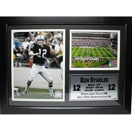 NFL Ken Stabler Photo Stat Frame, 12x18 18' Photo Stat Frame