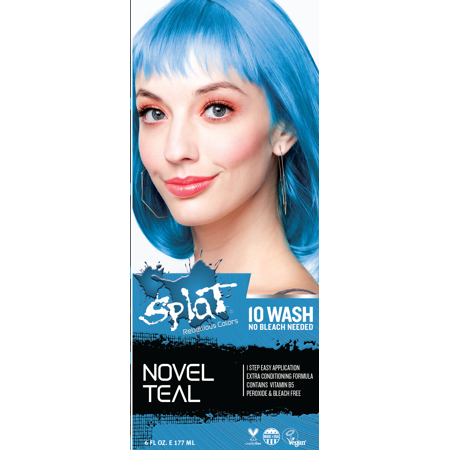 Teal Blue Color (Splat 10 Wash No Bleach Hair Dye Novel)