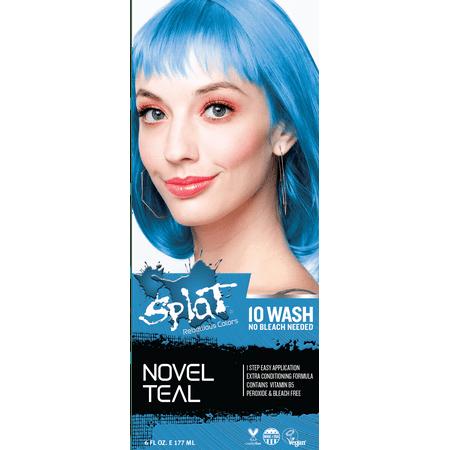 Splat 10 Wash No Bleach Hair Dye Novel Teal](Orange Hair Color For Halloween)