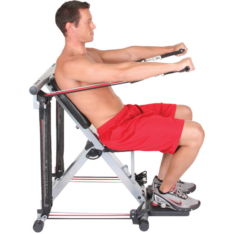 Workout Bands System: At Home Gym Equipment Resistance Chair Complete Machine