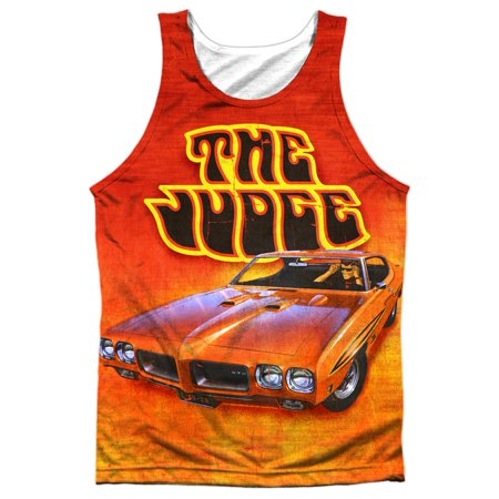 Pontiac Famous GM Automobiles Orange GTO The Judge Front Print Tank Top Shirt