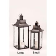 Empire Black Zinc Lantern Small
