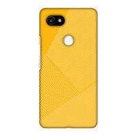 Google Pixel 2 XL Case, Premium Handcrafted Printed Designer Hard Snap On Case Back Cover with Screen Cleaning Kit for Google Pixel 2 XL - Carbon Fibre Redux Cyber Yellow 1