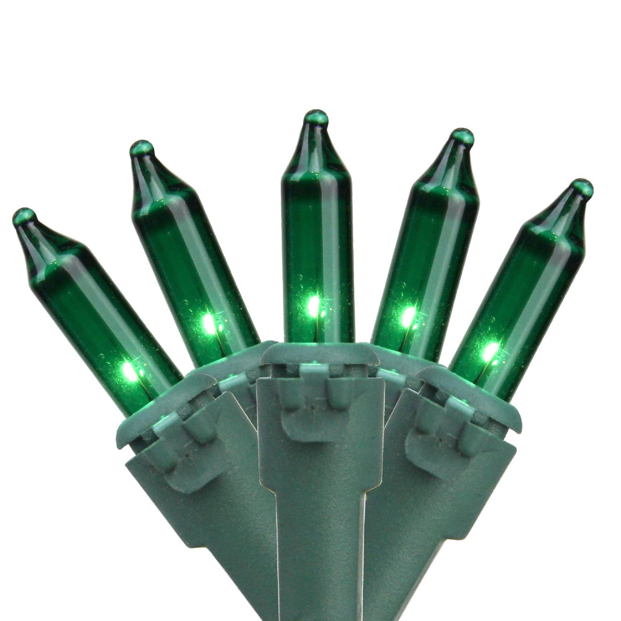 Brite Star 100ct Mini String Lights Green - 34.1' Green Wire
