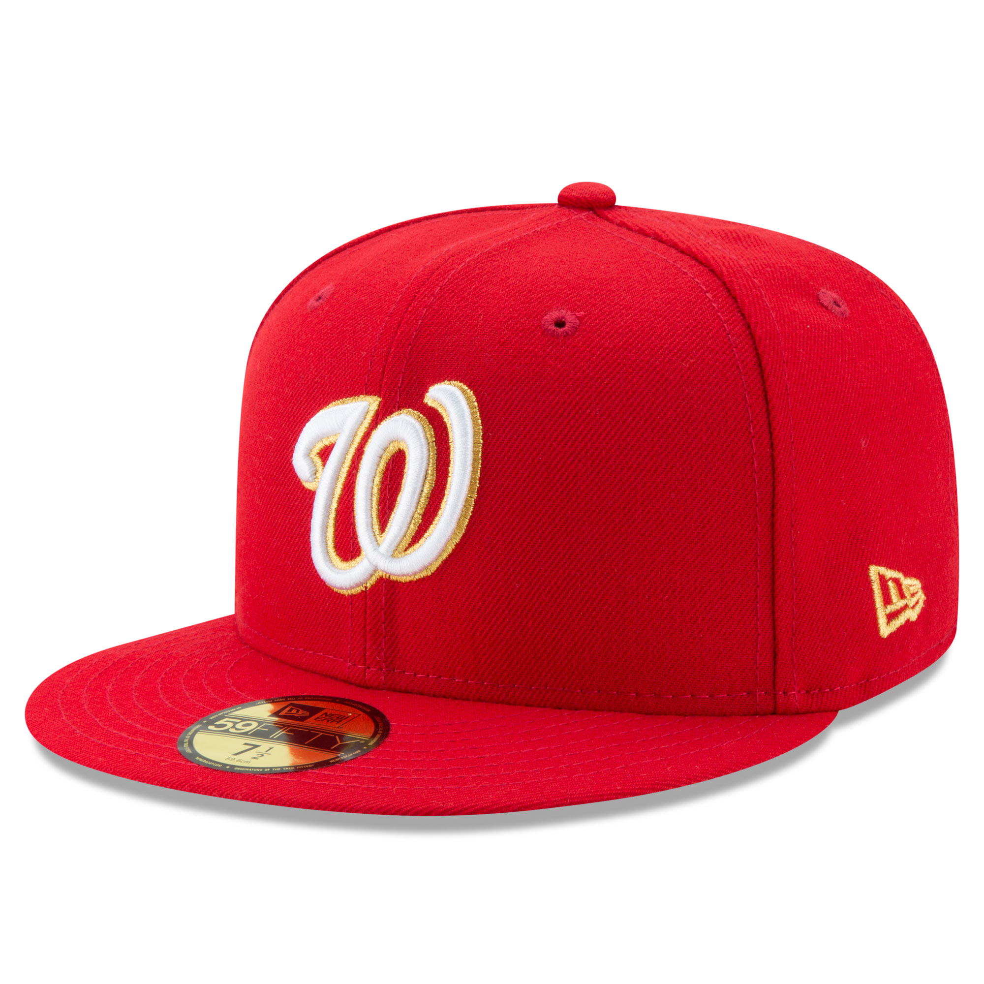 5f013a8ffe14f ... coupon for washington nationals new era gold city 59fifty fitted hat  red walmart 8c8a0 b9126
