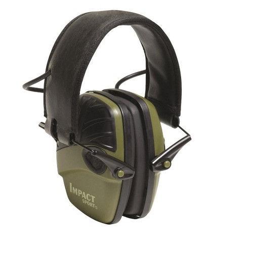 HOWARD LEIGHT IMPACT SPORT ELECTRONIC MUFFS 22 DB BLACK/GREEN