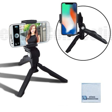 Adjustable Tabletop Camera/Smartphone Tripod/Steady-Shot Hand Grip, 6.5