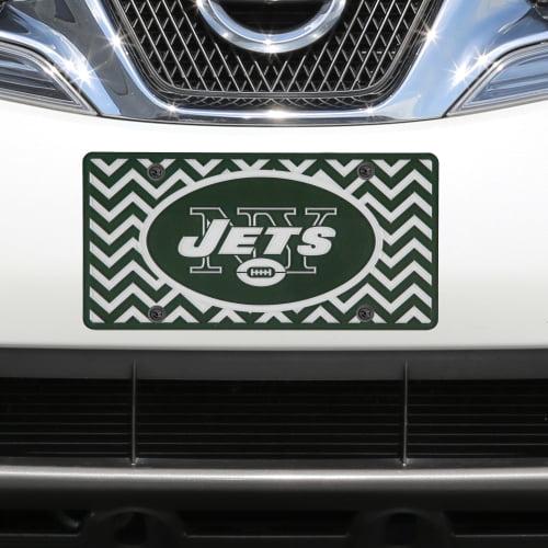 New York Jets Chevron Acrylic Laser Cut Plate - No Size