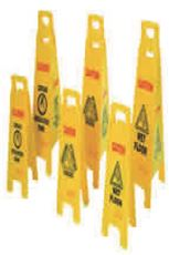 Floor Sign ''Caution Wet Floor'' 4-Sided Yellow by Rubbermaid Commercial Products