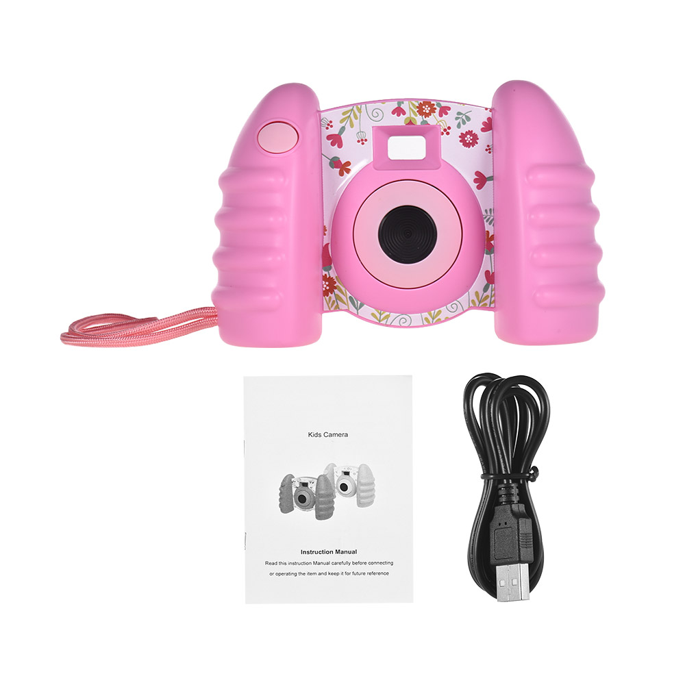 Pink Child Kid Digital Camera 1.4 inch Screen Mini Camera Camcorder TF Card Gift